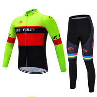 High quality printing cycling jerseys men's long sleeve cycling gear