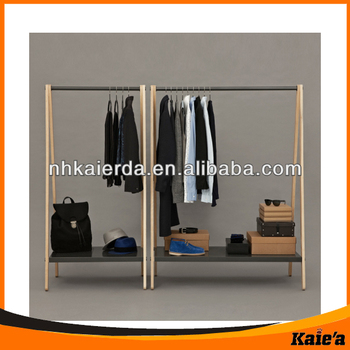 display clothes hanging rackswooden hanging rackwooden hanging display rack - Clothes Hanger Rack