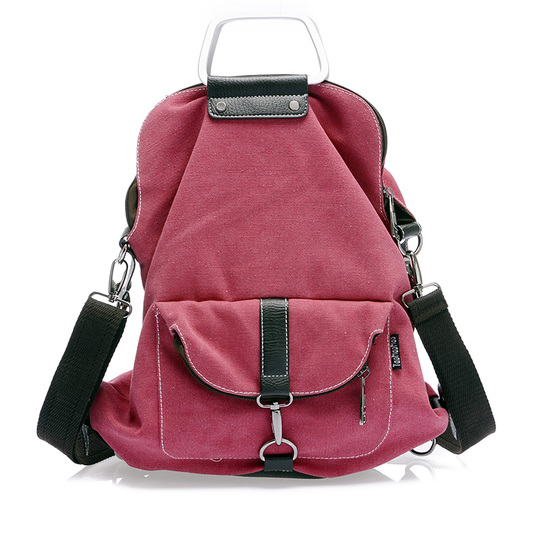 Hot!Free Shipping  women's canvas 3 Uses bag shoulder bag messenger  backpack multifunctional bags casual bag T062