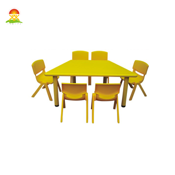Wholesale Trapezoid Type Plastic Children Table and Chairs Set