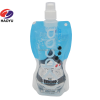 stand up spout pouch plastic foldable water bag food packing liquid bags