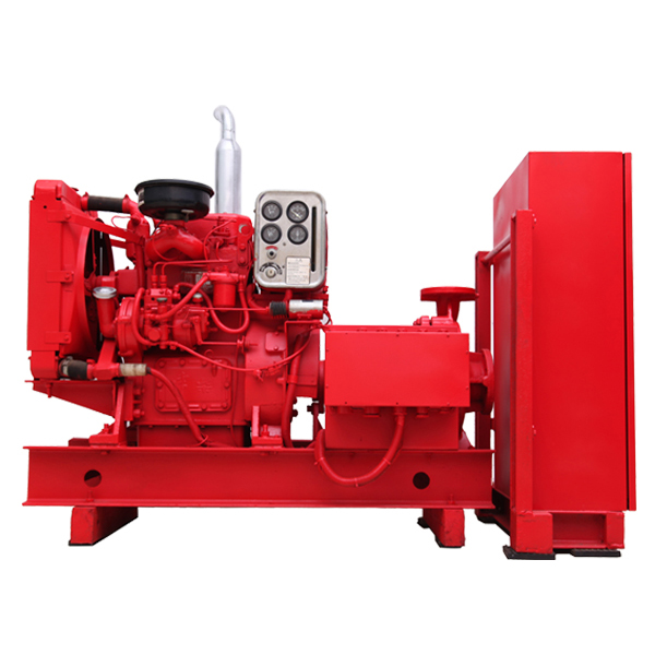Diesel engine fire control centrifugal pump unit