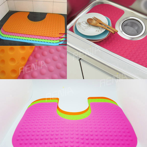 High Quality RENJIA Kitchen And Sink Mat Decorative Sink Mat Silicone Sink Mat