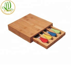 High Quality Bamboo Cheese Board And Knife Set