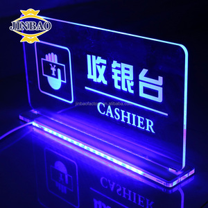 JINBAO Waterproof outdoor 3d acrylic letter sign acrylic led backlit channel display