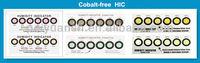 Vacuum packing cobalt free humidity indicator card