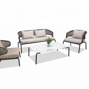 Outdoor Rope Woven sofa with Iron Frame Furniture