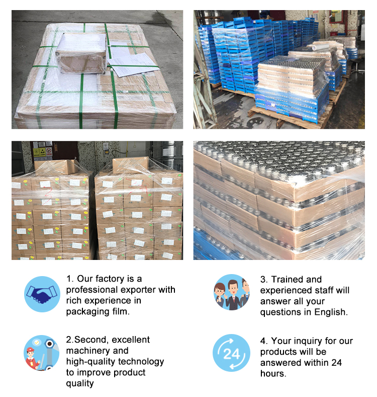 Factory price tray stretch winding, exhibition stretching film shrink packaging film / stretching film