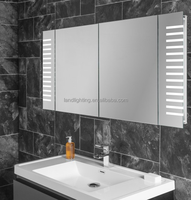 IP44 rated backlit bathroom mirror cabinet medicine cabinet