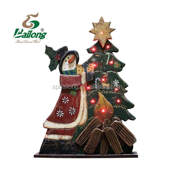 Hand craft wood lighted Christmas outdoor decor for home and garden