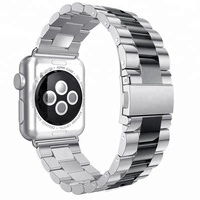 Classic 38mm 42mm Chain Link Solid Stainless Steel Watch Strap For Apple Watch