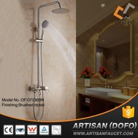 Brush nickel hotel project bath shower set exposed faucet