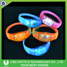 Hot Selling High Quality For Event/Concert Silicone/Woven Flashing Light Wristband