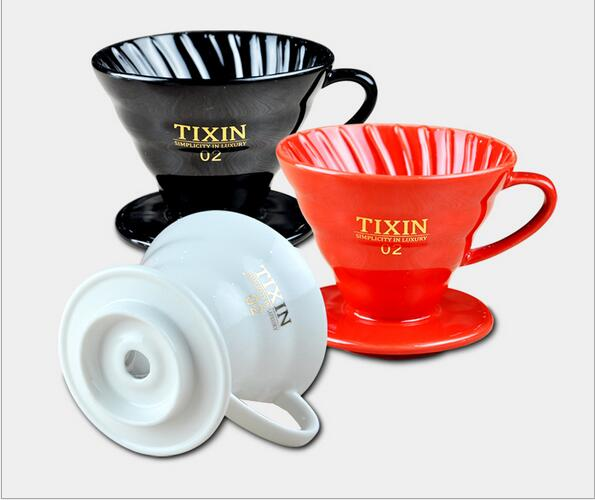 Wholesale custom design Coffee Pour Over or Dripper ceramic flavored coffee filter Cone