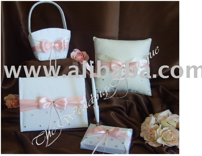 Wedding Accessories, Ring Pillow, Guest Book, Flower Basket