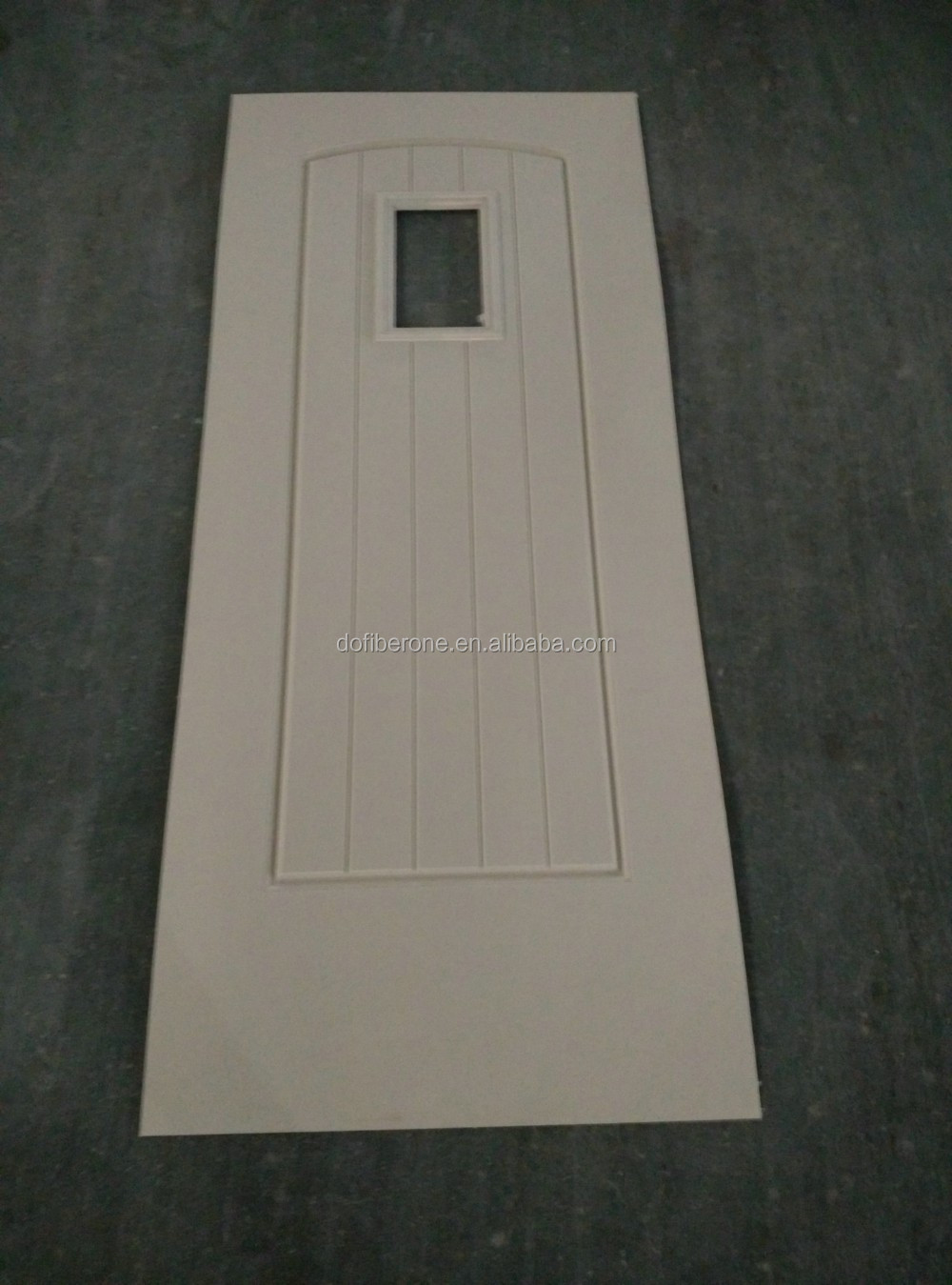 with glass frame molded in GRP FRP glassfiber fiberglass SMC glazing door and door skin