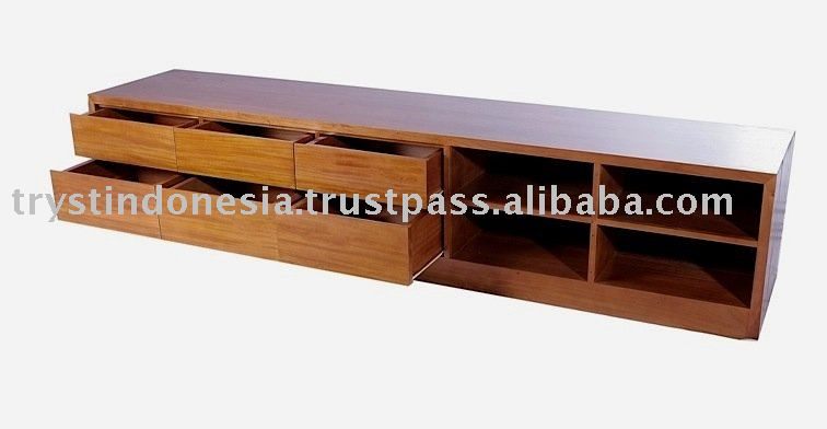 Lcd Tv Rack And Cabinet Made From Teak Wood,Wooden Tv Stand Table ...