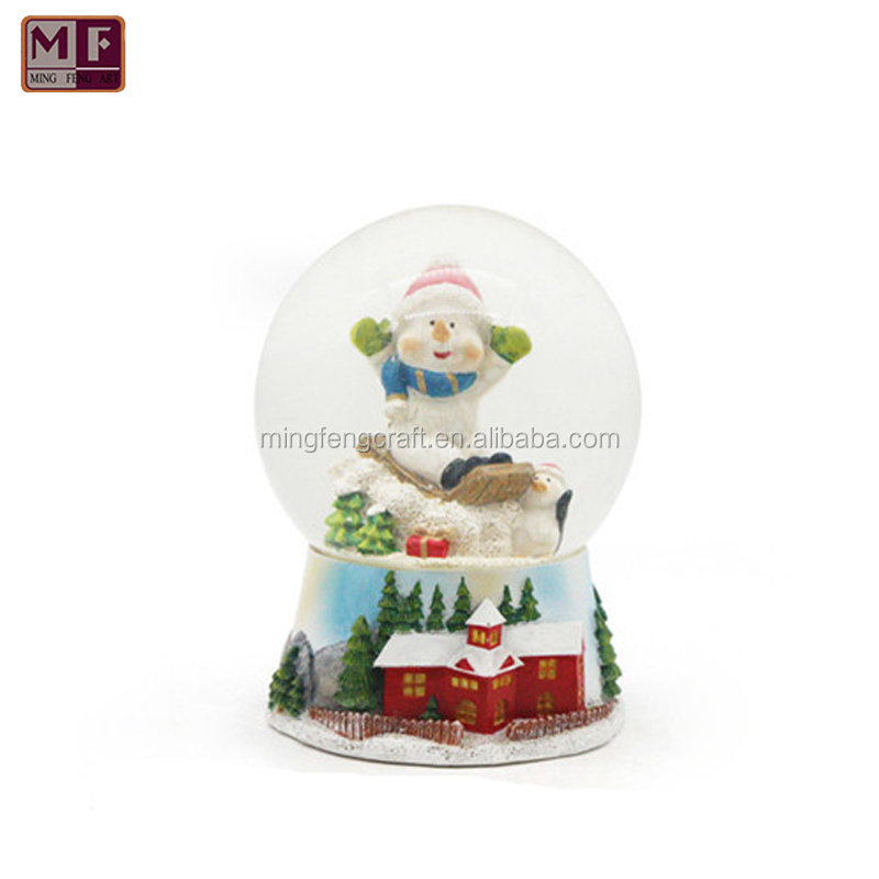 Resin Snowman Snow Globe Christmas Valentine's day birthday holiday new year's gift