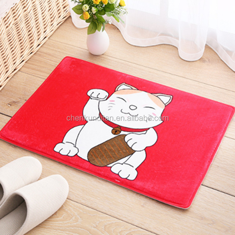 Soft touch Printed sitting room mats