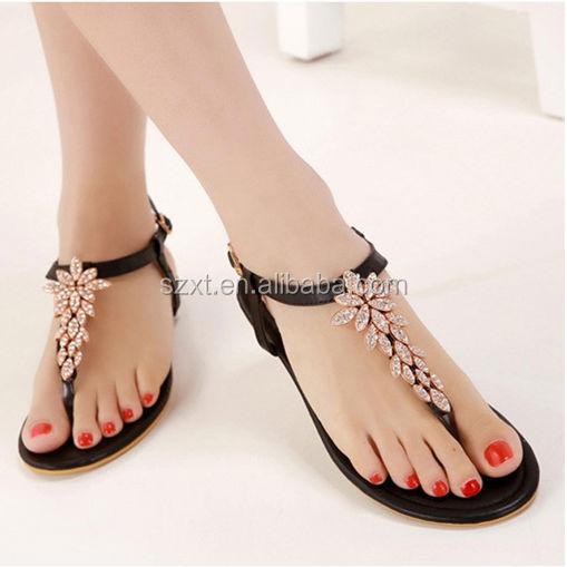 new style flat sandals beautiful women flat sandals ladies