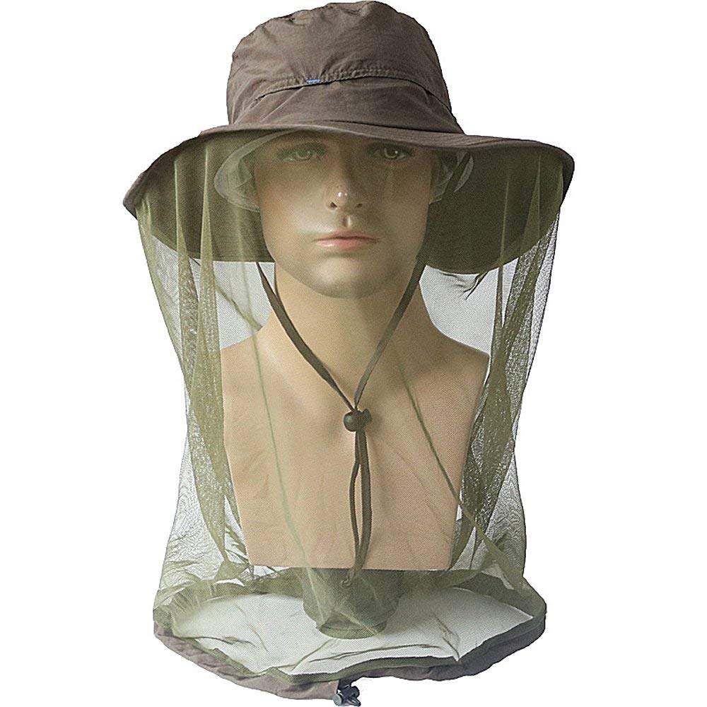 66c01cb0d3a8b Get Quotations · Mosquito Head Net Hat