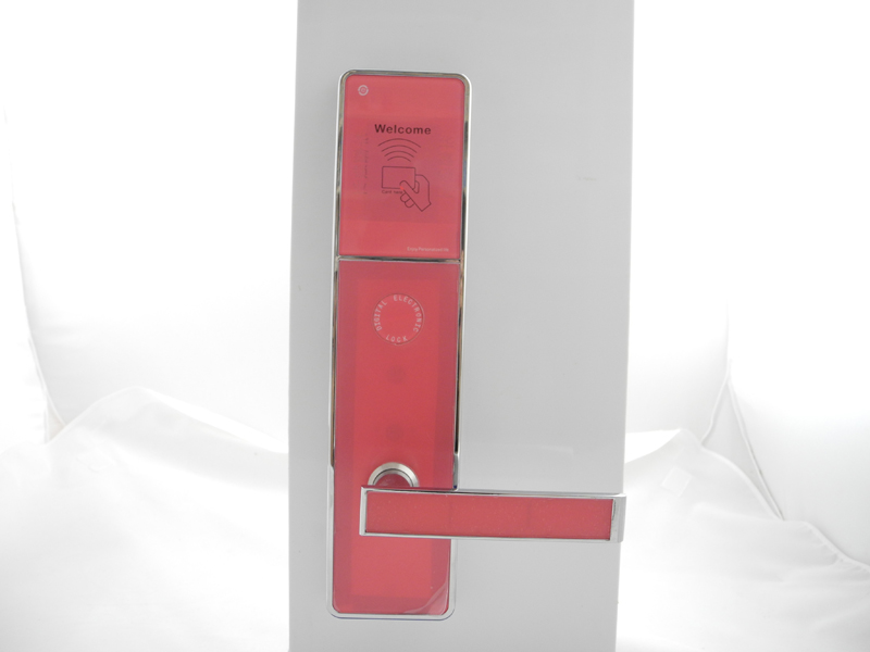 2017 New Pink Color High Quality Electronic RFID card hotel door lock with access control