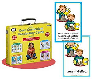 Core Curriculum Vocabulary Cards Level Two (Second Grade Words) - Super Duper Educational Learning Toy for Kids