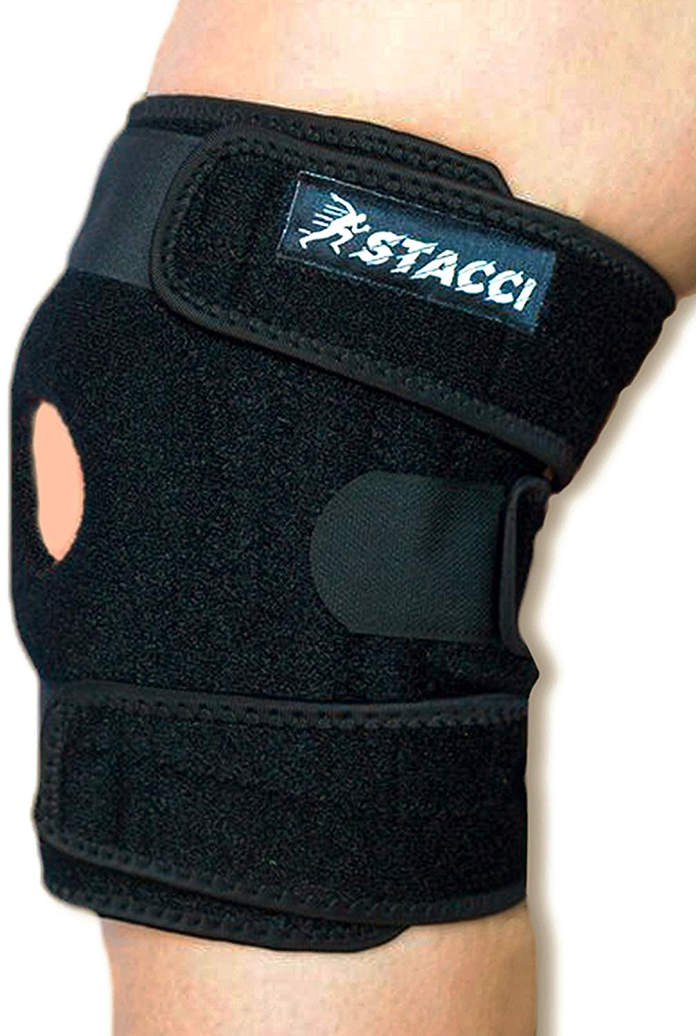 be9b4b0af0 Get Quotations · Knee Brace for Sprained Knee/Patella Stabilizer for  Dislocated, Injured, Swollen Knee +