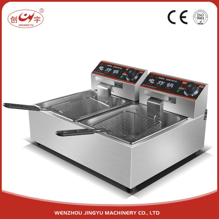 Chuangyu Made In China Doppio Cesto Gas Profondo Automatico Egg Fryer/Senza Fumo Friggitrice