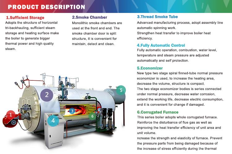 3-pass Fire Tube 3 Ton Oil Steam Boiler For Pharmaceutica Industry ...