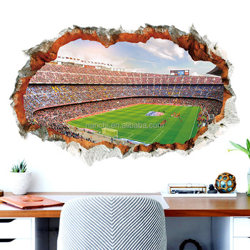 3D Stereoscopic World Cup wall sticker bedroom living room decorative wall stickers football fans stickers gift