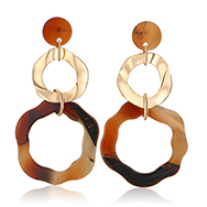 Hot Sale Colorful Cellulose Acetate Drop Dangle Earrings Ladies Oval Geometric Acrylic Earrings