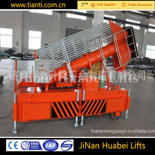 Ce certificates jinan huabei 30M tilting-type telescopic cylinder lift for sale