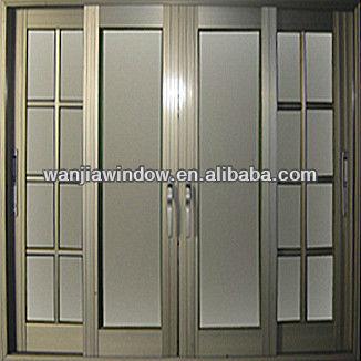 wanjia ventanas de aluminio anodizado bronce ventanas
