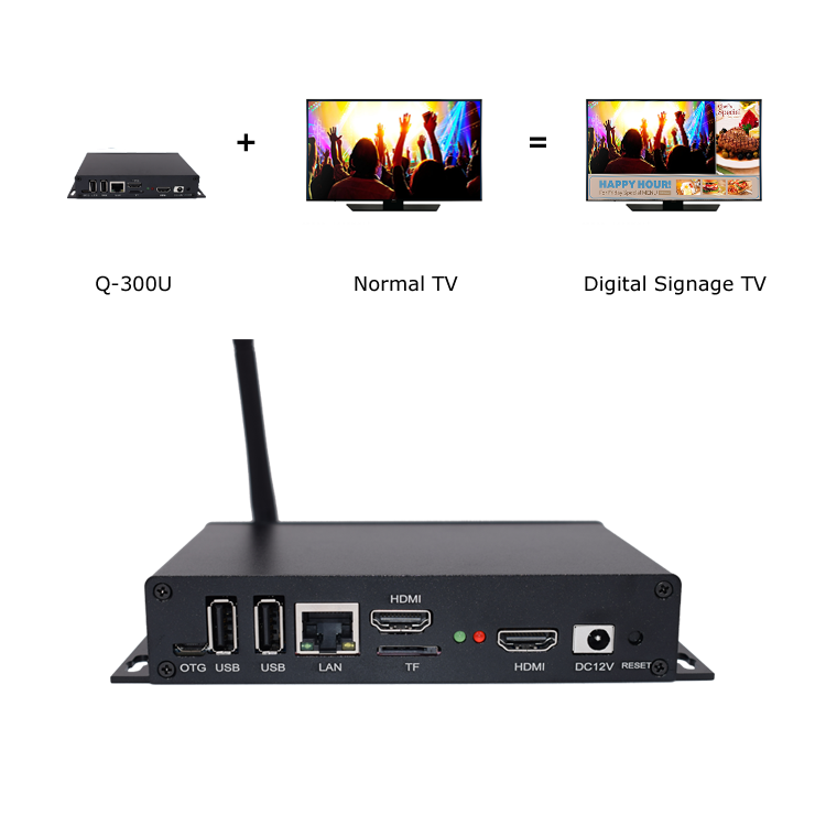 Q-300U Android Digital Signage Media Player with Live <strong>TV</strong> featured in