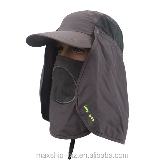 Wholesale Custom Bucket Hat/Cap Dry Fast Cap/Hat With Face Mask/Neck Guard For Outdoor Walking/Climbing