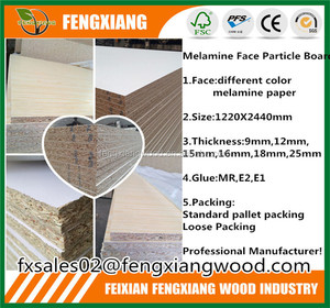 Pre-Laminated Melamine Particle Board 12mm