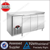 Commercial Stainless Steel 3 Doors Bar undercounter refrigerator