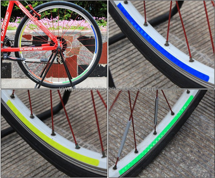 Tahan air Reflektif Strip Tape Decor Sepeda Roda Rim Stiker