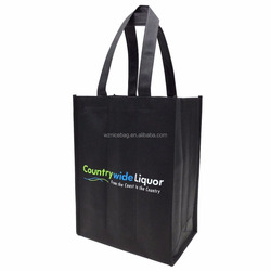 recyclable non woven wine bottle bag drink carry bag