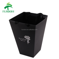 custom made recycled biodegradable black pink green color cheap retail flower box luxury with hot foil stamping logo