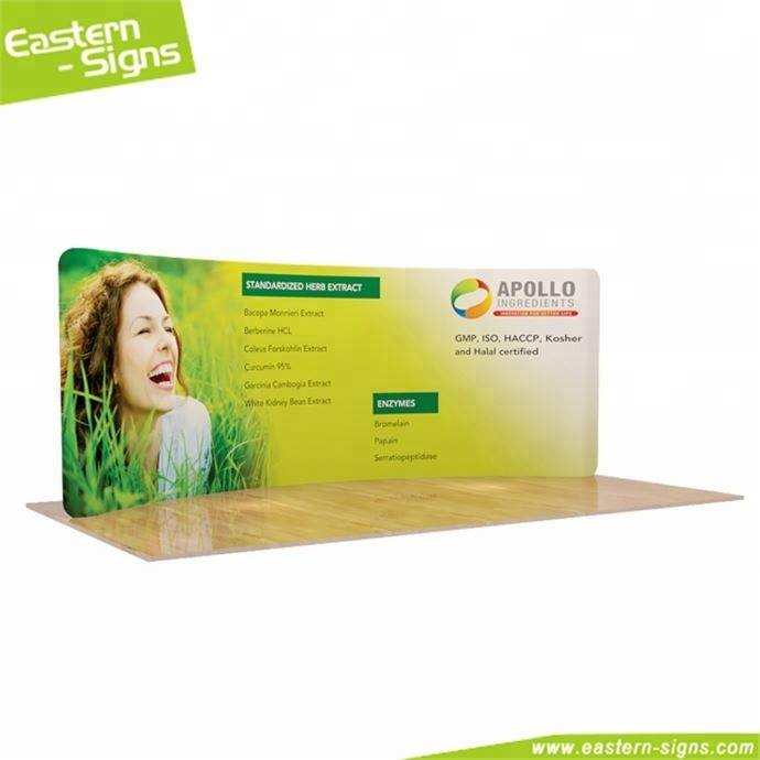 China wholesale curved shape CMYK printing advertising economical photo booth trade <strong>show</strong>