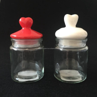 Eco-friendly 7oz glass candy jar with ceramic top