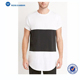 Fashion Design Colorblocked Curve-Hem Tee Men Longline 100 Cotton T Shirt