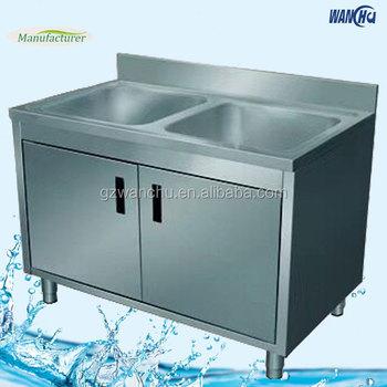 Singapore Market Double Bowl Commercial Stainless Steel Sink/kitchen Corner  Portable Kitchen Sink/kitchen Cabinets With Sink - Buy Kitchen Cabinets ...