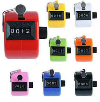 Plastic Color Hot Muslim Mechanical Counter 4 Digit  Hand Tally Counter