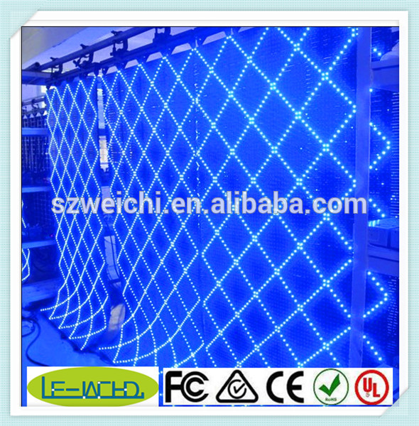 led scrolling message mini display rs232 flexible led curtain screen for nightclub full color led net screen