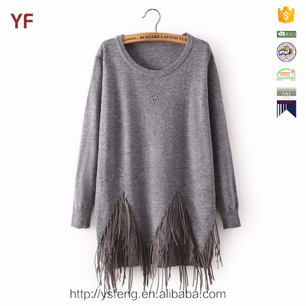 plus size pullover latest design winter knitted sweater women