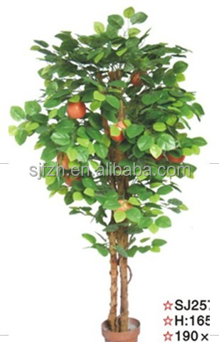 most realistic high quality outdoor fiberglass artificial handmade apple tree landscaping fruit tree on sale