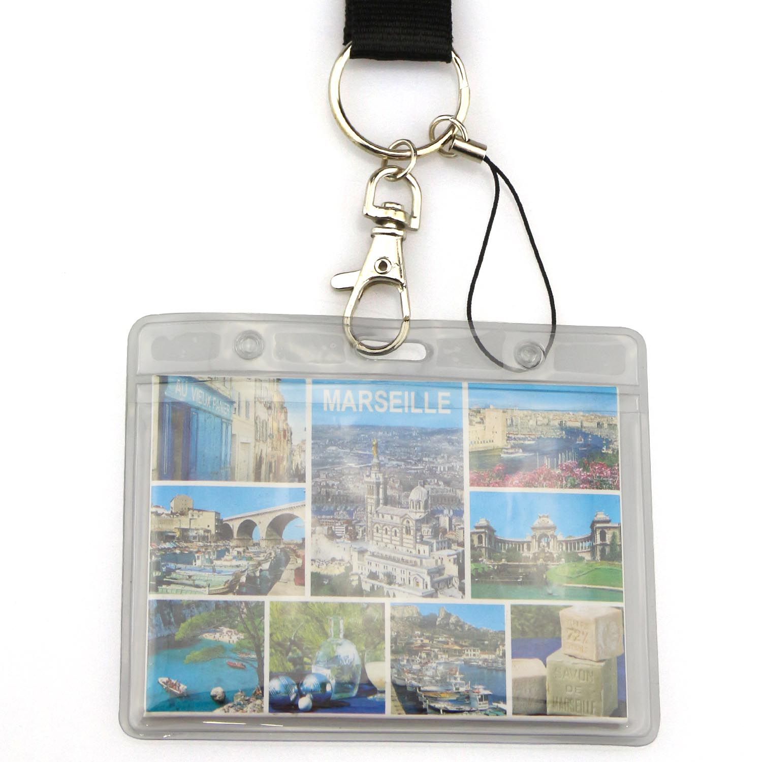 Custom soft plastic id name pvc card holder with lanyard